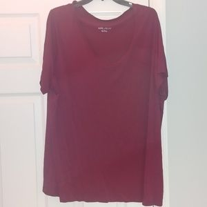 ❤ Silky red tee
